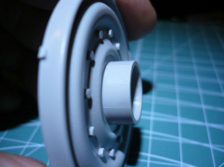 bavure autour des roues essieu