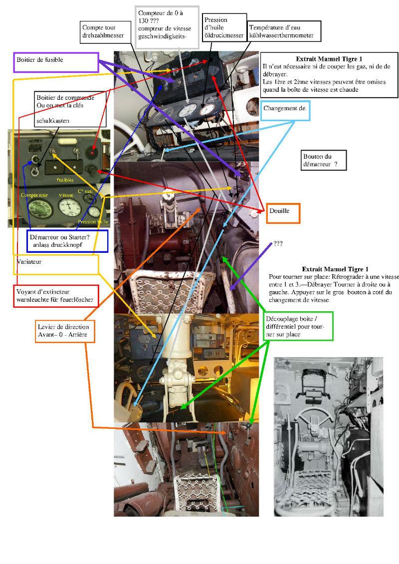 182 King Tiger 2 in 1 - TRUMPETER 00910 - 1/16ème - Page 3 Poste-pilotage-console-pub