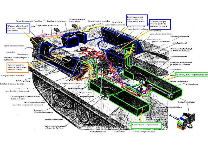 182 King Tiger 2 in 1 - TRUMPETER 00910 - 1/16ème - Page 3 Reservoirs