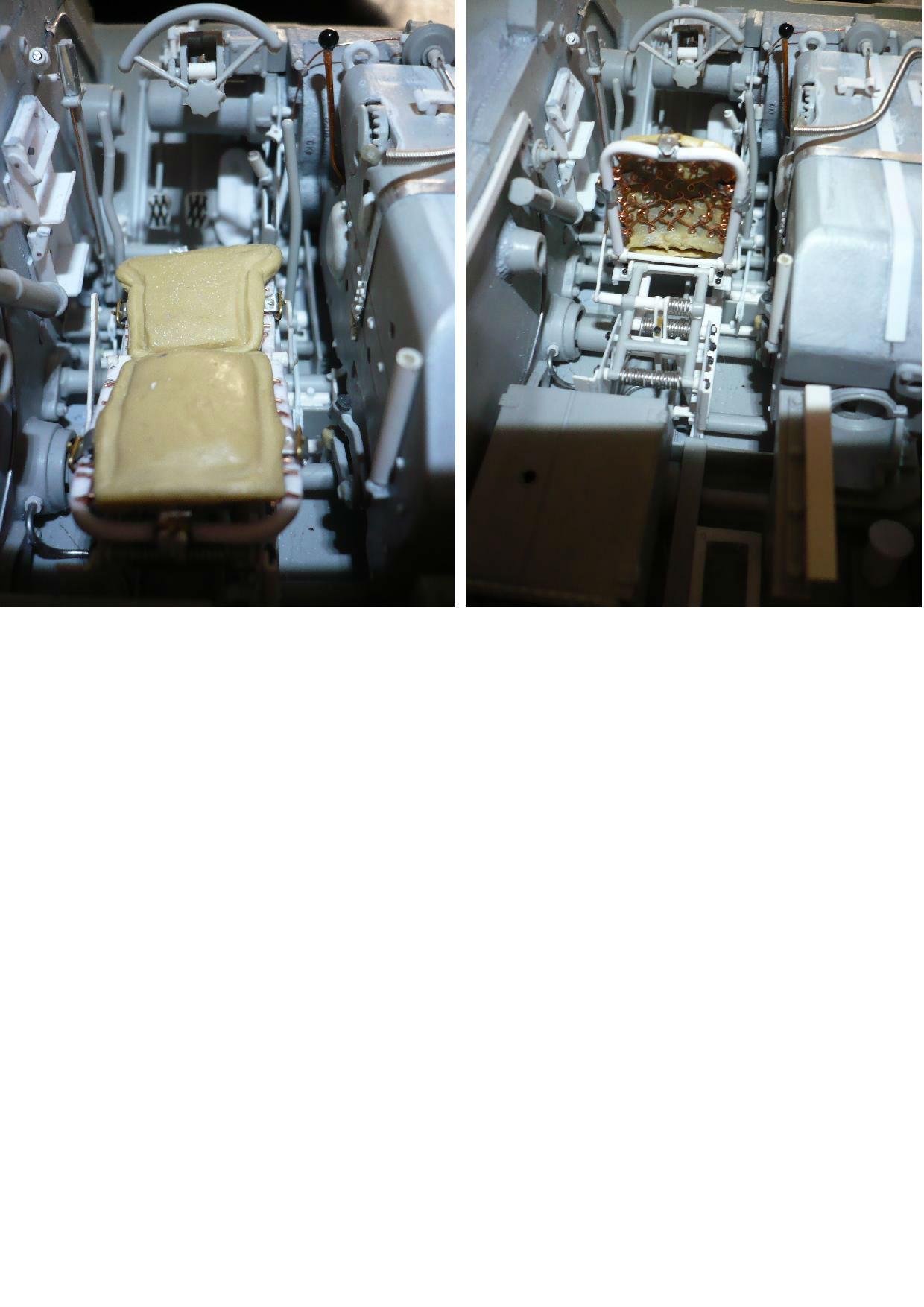 182 King Tiger 2 in 1 - TRUMPETER 00910 - 1/16ème - Page 3 Siege-pilote-pub-fini